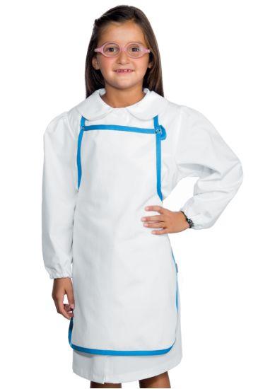 Baby apron - Isacco Light Blue+white
