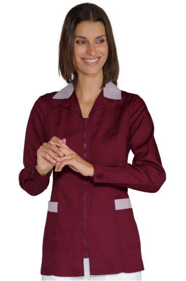 Barcellona blouse - Isacco Bordeaux+bordeaux Striped