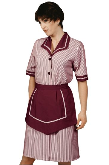Amalfi lady gown with apron - Isacco Bordeaux