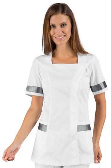 Aberdeen blouse - Isacco White+silver Lurex