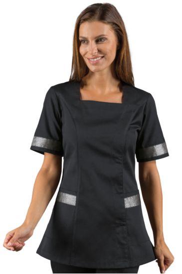 Aberdeen blouse - Isacco Black+silver Lurex