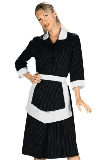 Antille gown with apron - Isacco Black Vienna