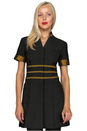 Cheyenne blouse - Isacco Black+golden Lurex