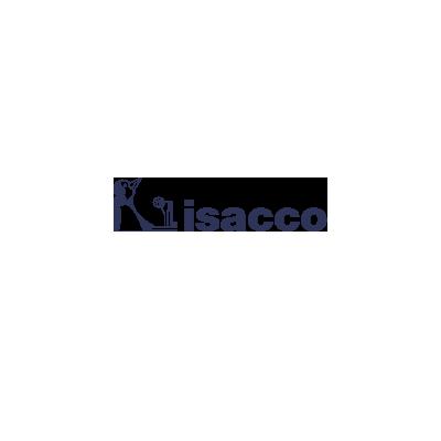 Poncho collo a V - Isacco Bianco+riga Azzurro