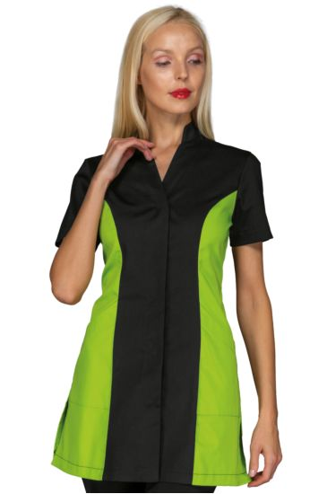 Copacabana blouse - Isacco Black+apple Green