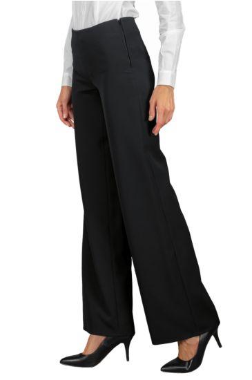 Palazzo woman trousers - Isacco Nero