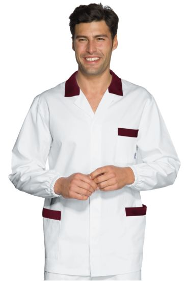 Casacca Peter - Isacco Bianco+bordeaux
