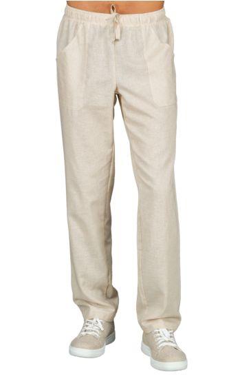 Pantalone con elastico - Isacco Lino