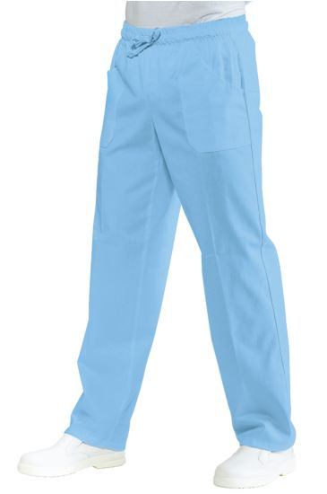 Pantalone con elastico - Isacco Celeste