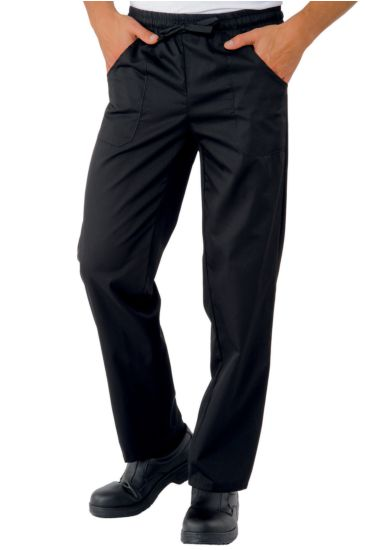 Pantalone con elastico - Isacco Nero