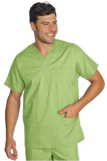 Casacca Collo a V  - Isacco Verde Mela