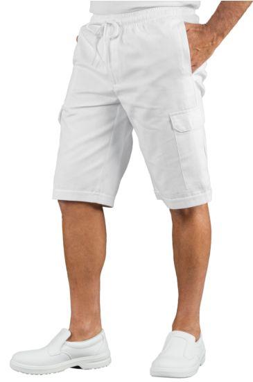 Pantacargo Short con elastico - Isacco Bianco