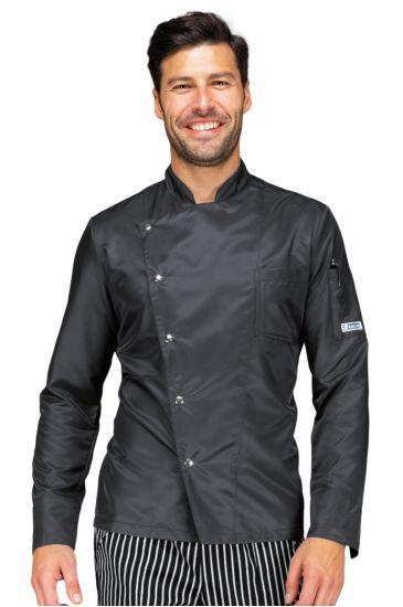 Giacca cuoco Belfast - Isacco Nero