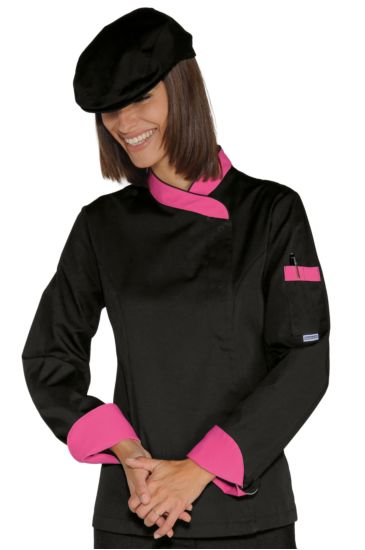 Giacca Lady Snaps - Isacco Nero+fuxia