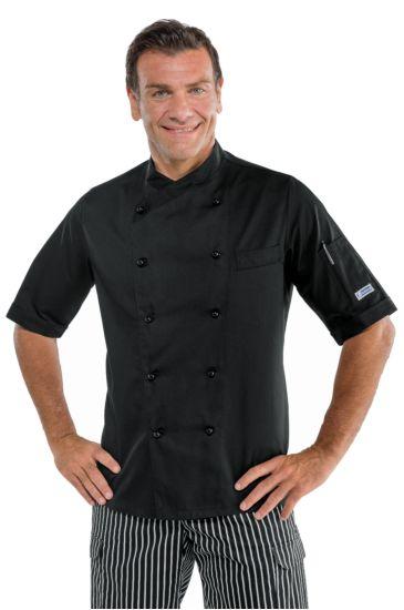 Giacca cuoco Panama - Isacco Nero