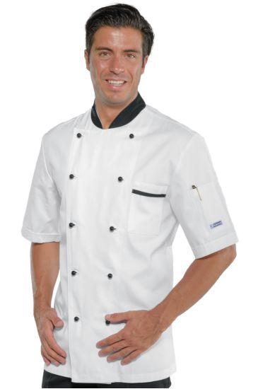 Bicolored chef jacket - Isacco White+black