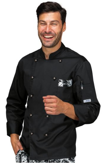 Atlanta chef jacket - Isacco Black+skull 12