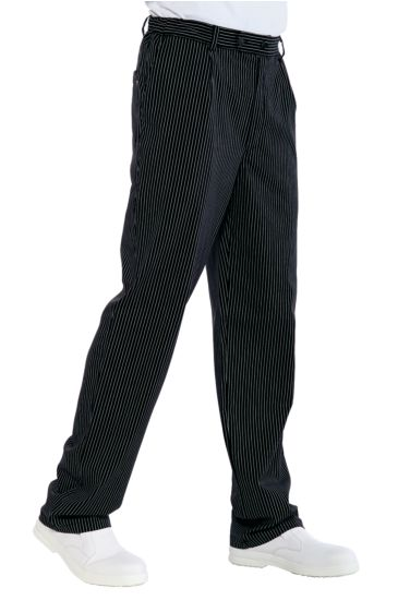 Chef trousers - Isacco Black Vienna