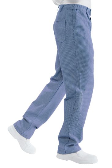 Chef trousers - Isacco Blue Houndstooth