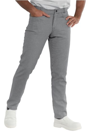Yale slim trousers - Isacco Houndstooth