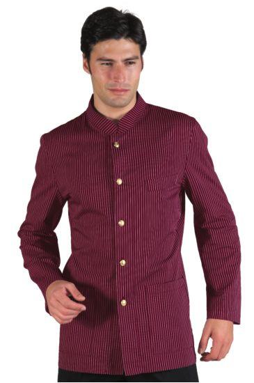 Korean shirt with no braiding - Isacco Bordeaux Vienna