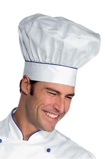 Cappello Cuoco - Isacco Bianco+blu Cina