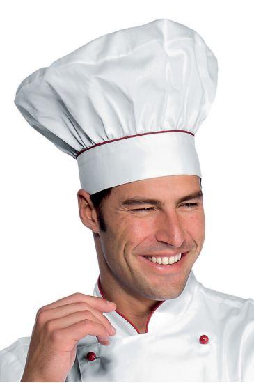Cappello Cuoco - Isacco Bianco+rosso