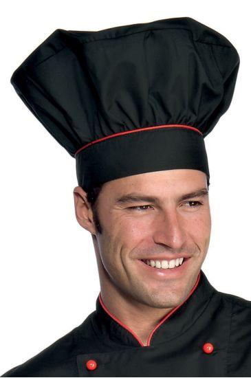 Cappello Cuoco - Isacco Nero+rosso