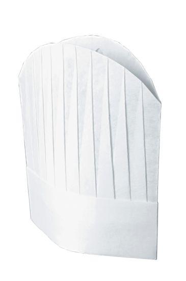 Confezione Cappello Cuoco TNT Cm 29 (10 Pezzi) Bianco