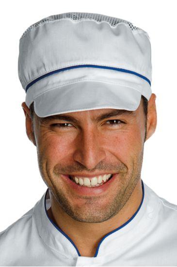 Cappello Charly con Rete - Isacco Bianco+blu Cina