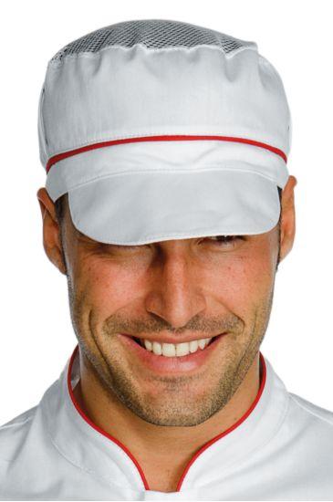 Cappello Charly con Rete - Isacco Bianco+rosso