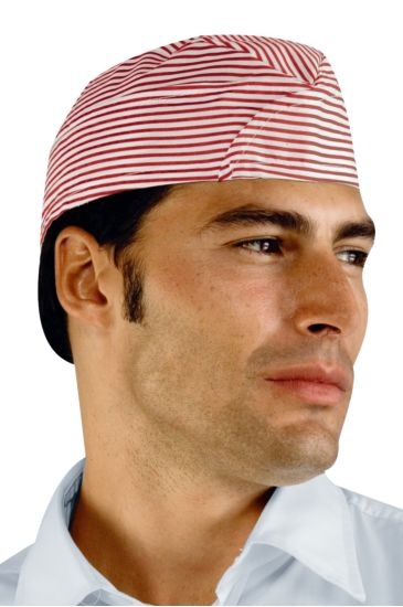 Adjustable hat sachet - Isacco Rouge Striped