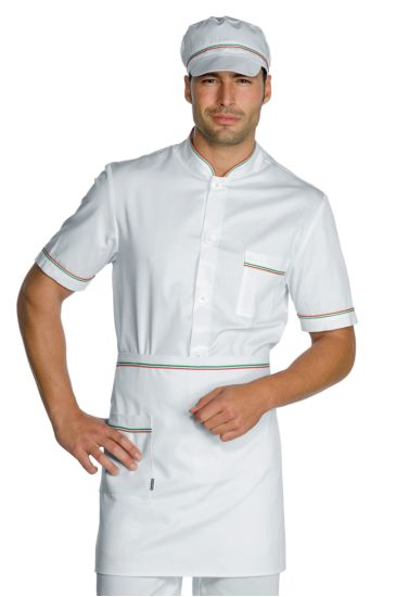Waist apron cm 70x46 with pocket - Isacco White+italy