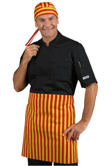 Nicaragua apron without pocket - Isacco Yellow Red