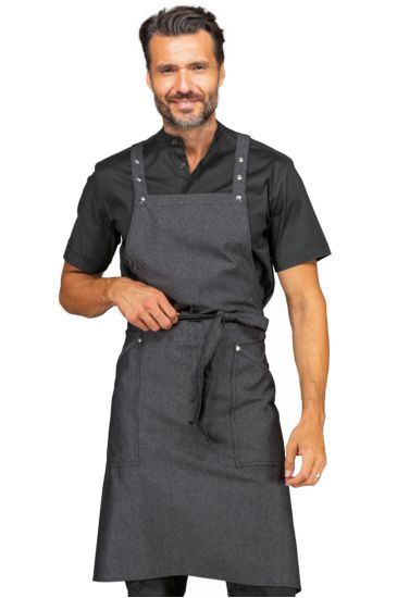 Watson apron - Isacco Black Jeans