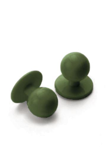 Confezione 10 Bottoni a pallina antipanico - Isacco Militare