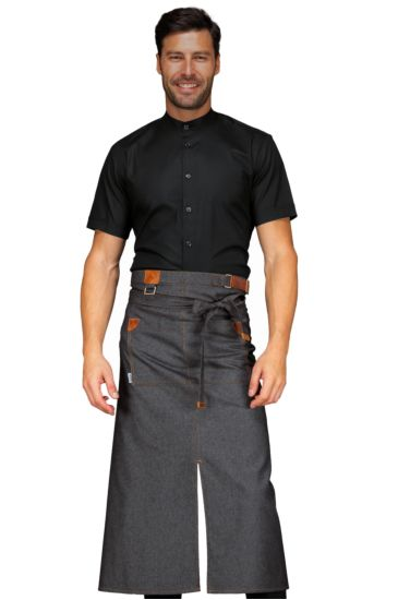 Grembiule Tennessee con Spacco - Isacco Black Jeans