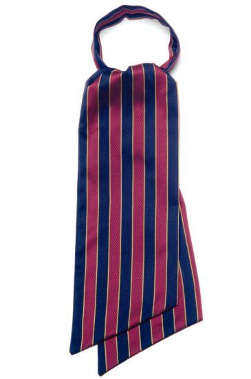 Ascot scarf - Isacco Regimental Bordeaux