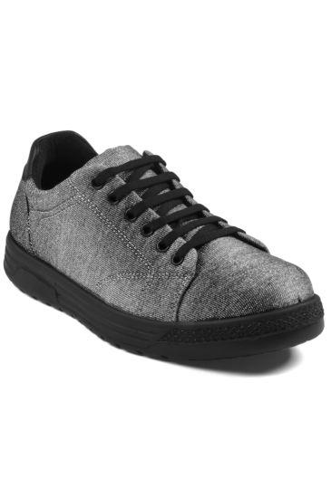 Scarpa Sneaker Comfort Unisex - Isacco Lurex Silver