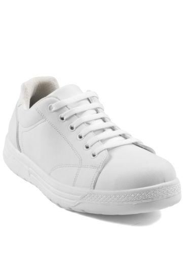 Scarpa Sneaker Microfibra Comfort Unisex - Isacco Bianco