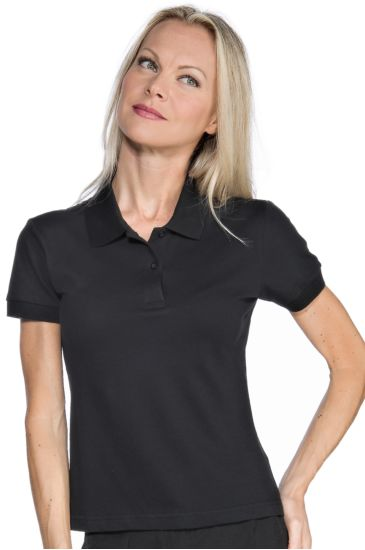 Stretch woman polo shirt - Isacco Nero