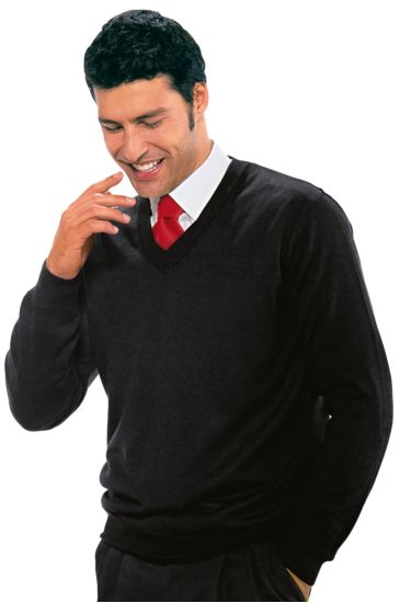 Unisex V-necked sweater - Isacco Nero