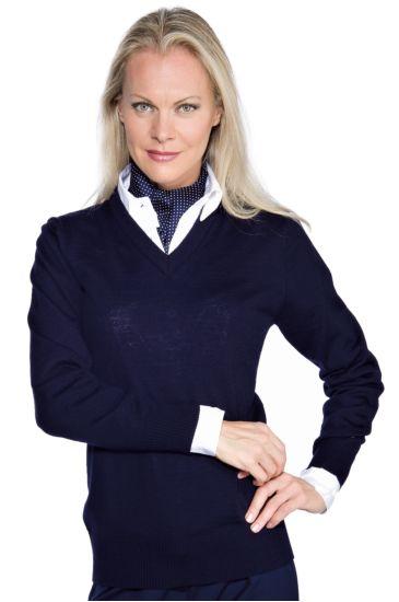 Unisex V-necked sweater - Isacco Blu