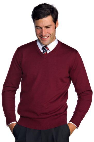 Unisex V-necked sweater - Isacco Bordeaux