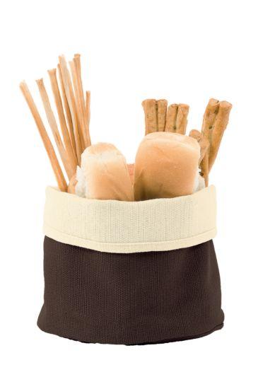 Bread basket - Isacco Cream+dark Brown